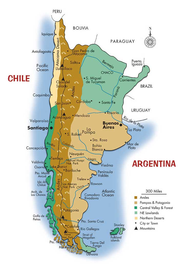 The Andes Expedition Maps - Andes mountains map