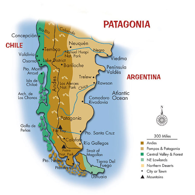 Patagonia Home - Argentina chile map