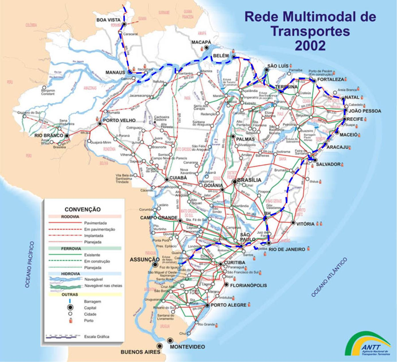 South America Route Maps on